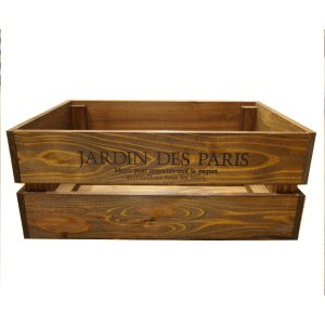 箱 収納ボックス ウッドボックス / アンティークボックス 小 ブラウン 450×300×180mm 木箱 木製 ボックス 収納箱 9210385 送料別 通常配送(105k)|handsman