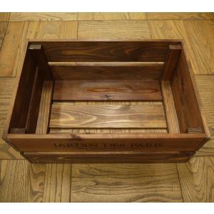 箱 収納ボックス ウッドボックス / アンティークボックス 小 ブラウン 450×300×180mm 木箱 木製 ボックス 収納箱 9210385 送料別 通常配送(105k) handsman 02
