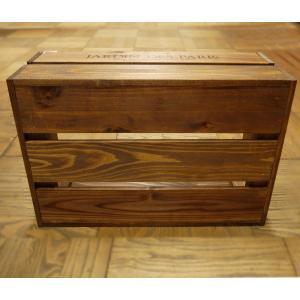 箱 収納ボックス ウッドボックス / アンティークボックス 小 ブラウン 450×300×180mm 木箱 木製 ボックス 収納箱 9210385 送料別 通常配送(105k) handsman 03