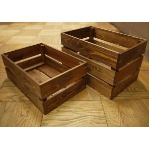 箱 収納ボックス ウッドボックス / アンティークボックス 小 ブラウン 450×300×180mm 木箱 木製 ボックス 収納箱 9210385 送料別 通常配送(105k) handsman 04