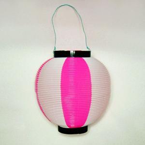 タカのポリ提灯 ちょうちん 桃白 ピンク/ホワイト 40−7038 直径23cm×高さ24cm (9469451)  送料別 通常配送|handsman