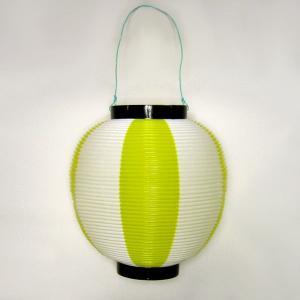 タカのポリ提灯 ちょうちん 黄白 イエロー/ホワイト 40−7039 直径23cm×高さ24cm (9469460)  送料別 通常配送|handsman