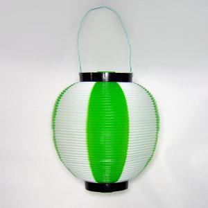 タカのポリ提灯 ちょうちん 緑白 グリーン/ホワイト 40−7040 直径23cm×高さ24cm (9469478)  送料別 通常配送|handsman