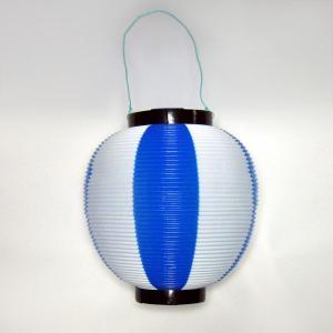 タカのポリ提灯 ちょうちん 青白 ブルー/ホワイト 40−7041 直径23cm×高さ24cm (9469486)  送料別 通常配送|handsman