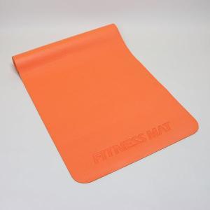 フィットネス ヨガマット オレンジ 約61cm×約183cm×厚さ約0.5cm (9627723)  送料別 通常配送|handsman