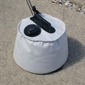 屋外用マルチウエイト6L グレー 直径:約25cm×高さ:約20cm (9647210) 【送料別】【通常配送】|handsman