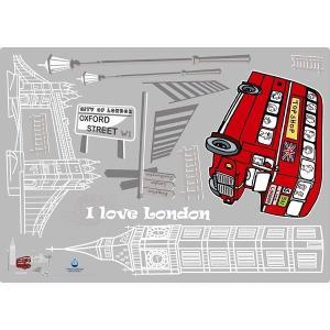 ウォールステッカー KR-0061 ロンドンの街をバスで行く (9657282)  送料別 通常配送|handsman