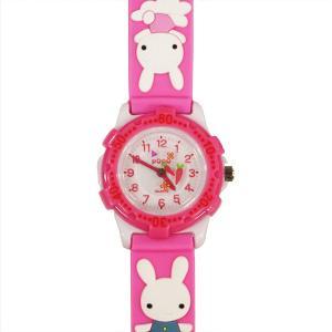 【廃番・取扱中止品】子供用腕時計 キッズウォッチ ウサギ ピンク サンフレーム TCL34-PI (9961909)取寄せ商品 送料別 通常配送|handsman