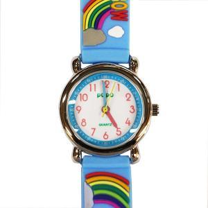 【廃番・取扱中止品】子供用腕時計 キッズウォッチ 虹 ブルー サンフレーム TCL32-BL (9961941)取寄せ商品 送料別 通常配送|handsman