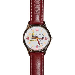 子供用腕時計 スヌーピー 盤面ホワイト ベルトワインレッド CITIZEN AA95-9852 (9962077) 取寄せ商品 送料別 通常配送|handsman