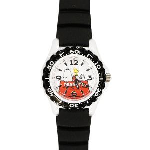 子供用腕時計 スヌーピー 盤面ホワイト ベルトブラック CITIZEN AA96-0015 (9962093)取寄せ商品 送料別 通常配送|handsman