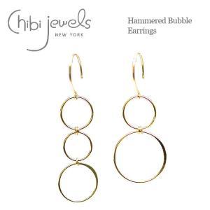4d20a7d6a261a chibi jewels チビジュエルズ アシンメトリー リング ゴールド サークル フックピアス Bubble Earrings (Gold)  レディース