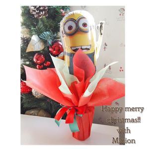 【送料無料】バルーンポット ミニオン クリスマスVer【ミニオン バルーンギフト クリスマスギフト 発表会 お誕生日 あすつく可能】 handsome-gift