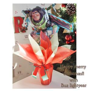 【送料無料】バルーンポット バズライトイヤー クリスマスVer【トイストーリー バルーンギフト クリスマスギフト 発表会 お誕生日 あすつく可能】 handsome-gift
