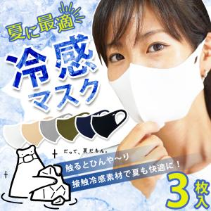 マスク 夏用 冷感 ひんやり 洗える 蒸れにくい 快適 ク〜ルなやつら 3枚入り 大人用サイズ hangaa