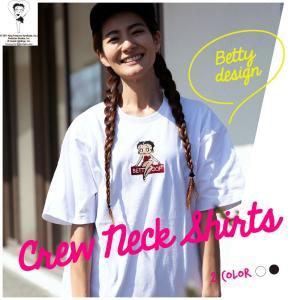 Tシャツ レディース 半袖 大きいサイズ 天竺 クルーネック Betty Boop(TM) ベティー ブープ(TM)|hangaa