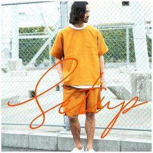 Tシャツ メンズ 上下セット ショーツ カットソー ボトム 短パン 半袖 シンプル カジュアル M L LL hangaa