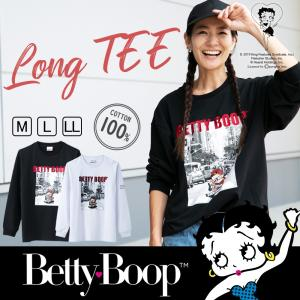Tシャツ 長袖Tシャツ Betty BeettyBoop(TM) ベティーちゃん レディース 長袖 秋冬 秋 冬|hangaa