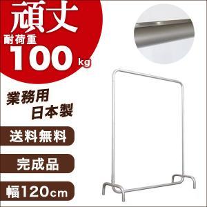 ハンガーラック アールパイプ 幅120cm 高150cm 耐荷重100kg 日本製 ショップ用 組立不要 高さ固定式 キャスターなし 洋服衣類 収納ラック パイプハンガー|hangerrack-pro