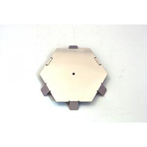 【ご使用にはKIKYO-L基本キットが必要です】ラージサイズ焚き火台 KIKYO-L用オプション 6角形パネル凸4凹2 x1枚|hango-konro