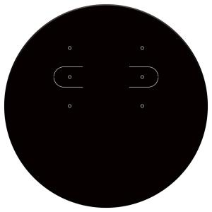 【ゆうパケット対応】ピアス・イヤリング専用台紙 ブラック 丸型 hanjo