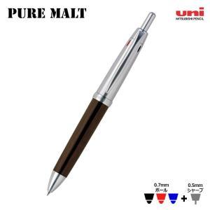 三菱uni ピュアモルト オークウッド・プレミアム・エディション ウィスキー樽から作った3色ボールペン+シャーペン|hanko-king