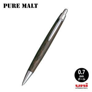 三菱uni ピュアモルト オークウッド・プレミアム・エディション ウィスキー樽から作った0.7mmボールペン|hanko-king