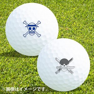 ゴルフボール名入れ マイボールスタンプ ONE PIECE 海賊旗Ver.お名前イニシャルなし コン...
