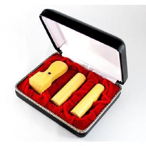 印鑑 はんこ 法人薩摩本柘印鑑3本セット 専用ケース付(18.0mm) (16.5or18.0mm)  (21.0mm)Cセット  法人 会社設立 実印 銀行印 角印 送料無料|hankoya-store-7