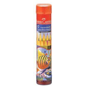 ファーバーカステル 水彩色鉛筆 丸缶 12色セット《FABER-CASTELL/文房具》