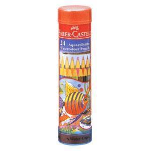 ファーバーカステル 水彩色鉛筆 丸缶 24色セット《FABER-CASTELL/文房具》