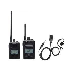 トランシーバー インカム アルインコ DJ-P221 M (ミドルアンテナ) / L(ロングアンテナ)+HD-24S(II)耳掛け式イヤホンマイクセット|hanna-web