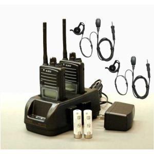 アルインコ DJ-P221 M (ミドルアンテナ仕様) / L (ロングアンテナ仕様) 本体2台、EDC-179A充電器、オリジナルバッテリー2本、HD-24SII掛け式イヤホンマイク2個|hanna-web