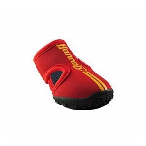 ドッグシューズ 「サイズ ・XS:赤色:2個入/1セット」|hannah-dogsandal