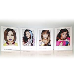 【送料無料・速達・代引不可】 2NE1 公式 グッズ - NEW EVOLUTION ペーパーフォトフレーム (Paper Picture Frame)|hanryubank