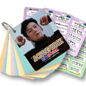 【送料無料・速達・代引不可】 チ・チャンウク (JI CHANG WOOK) グッズ - 韓国語 単語 カード セット (Korean Word Card) [63ピース] 7cm x 8cm SIZE hanryubank