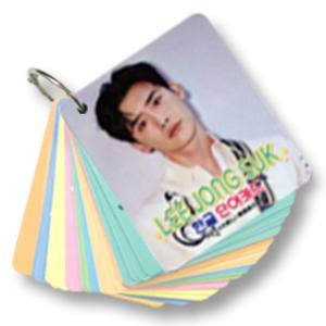 【送料無料・速達・代引不可】 イ・ジョンソク (LEE JONG SUK) グッズ - 韓国語 単語 カード セット (Korean Word Card) [63ピース] 7cm x 8cm SIZE hanryubank