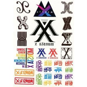【送料無料・速達・代引不可】 MONSTA X (モンスターエクス) グッズ - ウォーター タトゥーシール (K-STAR WATER TATTOO STICKER)|hanryubank|02