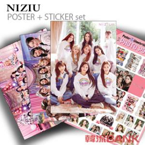 NIZIU (ニジュー)グッズ - フォト ポスター セット (PHOTO POSTER SET) [ポスター12枚 + ステッカー セット1枚] 30cm x 42cm SIZE|hanryubank