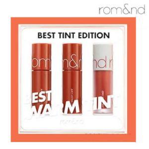 【送料無料・速達・代引不可】 ロムアンド rom&nd ベストティントエディション Best Tint Edition Warm Tint hanryubank