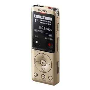 ソニー [ICD-UX575F/N] ステレオICレコーダー FMチューナー付 16GB ゴールド