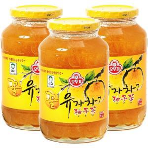 はちみつゆず茶 ビタミンC まとめ買い (オトギ 蜂蜜柚子茶 1kg×3) ゆず茶 甘味 果肉入り 美味しい hanryuwood