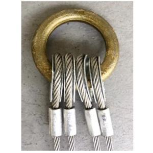 【コンドーテック】 JISロック止めワイヤー 9mm ×2M 裸 4点吊セット 4KT0902|hanshin-k|03