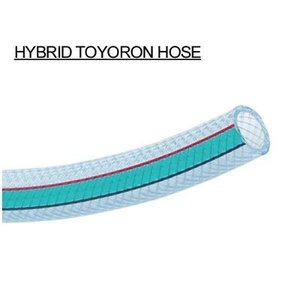 【即納可】 トヨックス ハイブリッドトヨロンホース 【HTR-9】 内径9mmx外径15mm カット販売 (1mあたり300円) 折れにくい 補強構造 耐圧ホース|hanshin-k