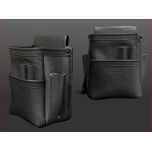 【送料無料】ニックス  総グローブ皮仕上腰袋フチ  KB-201DDSP 工具袋 KNICS|hanshin-k