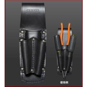 ニックス ペンチ・フロントドライバーホルダー KB-301PFL 工具袋 KNICS|hanshin-k