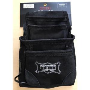 ニックス 2×4工法用釘袋(黒)KCA-7503B 工具袋 KNICS|hanshin-k