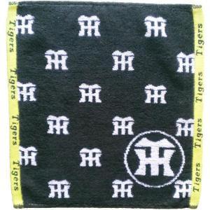 阪神タイガース ジャガード ハンドタオル(ブラック)|hanshinkachiya