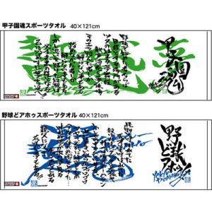 【定番!】 designer MAIIDA スポーツタオル 【甲子園魂 & 野球どアホゥ!】|hanshinkachiya