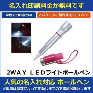 名入れ印刷料金無料 2WAY LEDライトボールペン 販促グッズ ノベルティ 記念品 粗品 景品 激安 hn10493